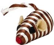 Игрушка для животных Beeztees Мышь полосатая / 440445 -