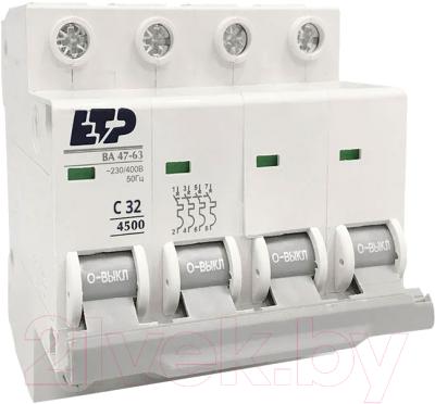 Выключатель автоматический ETP ВА 47-63 4P 32А (С)