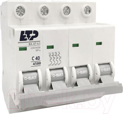 Выключатель автоматический ETP ВА 47-63 4P 40А (С)