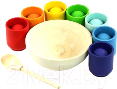 Развивающая игрушка Уланик Сортер. Радуга: шарики в стаканчиках / SBS01C0704U