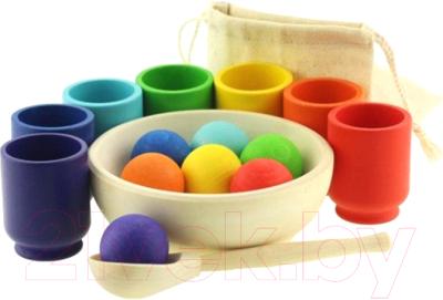 Развивающая игрушка Уланик Сортер. Радуга: шарики в стаканчиках / SBS01C0702U