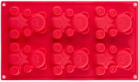 Форма для выпечки Walmer Bears / W27301820 (красный) -