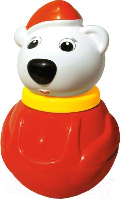 Развивающая игрушка Stellar Неваляшка. Белый медведь / 01678