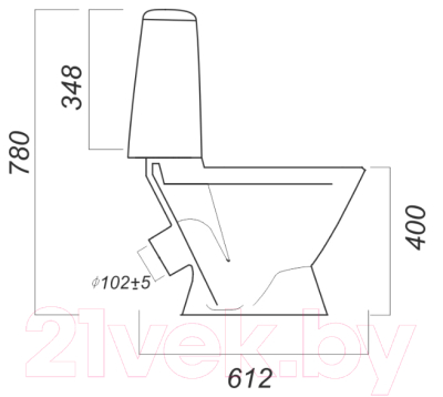 Унитаз напольный Sanita Luxe Лада Эконом LDASACC01090111