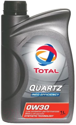 Моторное масло Total Quartz Ineo Efficiency 0W30 / 186931 (1л)