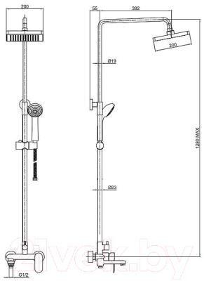 Душевая система Bravat Opal F6125183CP-A4-RUS