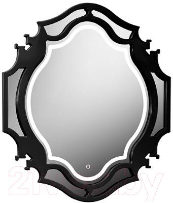 Зеркало Belux Кастилия В90 (16, черный глянец)