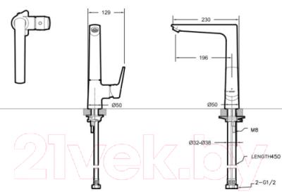 Смеситель Bravat Real F7121179CP-2-RUS