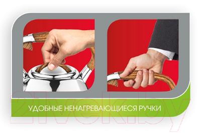 Чайник со свистком Lara LR00-66 (зеркальный)