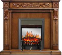 Каминокомплект Royal Flame Neapol + Fobos FX M Black (дуб/антик) -