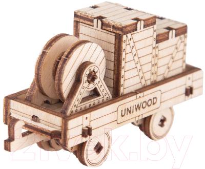 Вагон игрушечный Uniwood, Платформа / UW30155