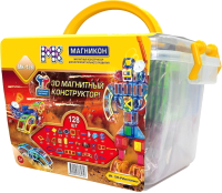 Конструктор магнитный Магникон Робототехника / MK-128 -