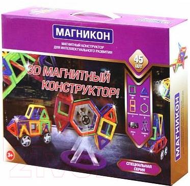Конструктор магнитный Магникон Строительная техника / МК-45