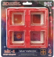 Элемент конструктора Магникон Супер Квадраты / МК-4-СК (4шт) -