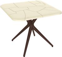 Обеденный стол Sheffilton SHT-TU30/TT30 83x83 (бежевый/коричневый) -