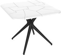 Обеденный стол Sheffilton SHT-TU30/TT30 83x83 (белый/черный) -