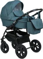 Детская универсальная коляска Alis Berta 2 в 1 (Be 01, изумрудный) -