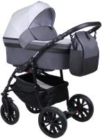 Детская универсальная коляска Alis Road F 3 в 1 (Ro 03, серый/серая кожа) -