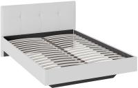 Полуторная кровать ТриЯ Элис тип 1 с мягкой обивкой 140x200 (белый) -