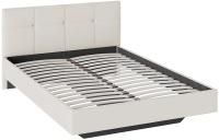 Полуторная кровать ТриЯ Элис тип 1 с мягкой обивкой 140x200 (светлый) -