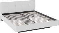 Двуспальная кровать ТриЯ Элис тип 1 с мягкой обивкой 180x200 (белый) -