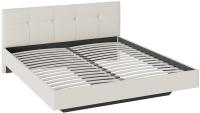 Двуспальная кровать ТриЯ Элис тип 1 с мягкой обивкой 180x200 (светлый) -