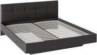 Двуспальная кровать ТриЯ Элис тип 1 с мягкой обивкой 180x200 (темный) -