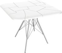 Обеденный стол Sheffilton SHT-TU2-1/TT30 83x83 (белый/хром лак) -