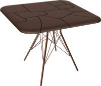 Обеденный стол Sheffilton SHT-TU2-1/TT30 83x83 (медный металик/коричневый) -
