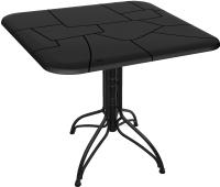 Обеденный стол Sheffilton SHT-TU25/TT30 83x83 (черный муар/черный) -