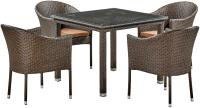 Комплект садовой мебели Afina Garden T257A/Y350A-W53 (Brown) -