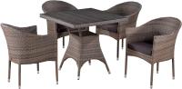 Комплект садовой мебели Afina Garden T220BG/Y350BG-W1289 (4+1, Pale) -