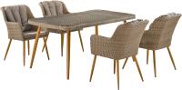 Комплект садовой мебели Afina Garden T363B/Y363B-W65 (Light Brown) -
