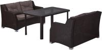 Комплект садовой мебели Afina Garden T51A/S51A-W53 с диванами (2+1, Brown) -