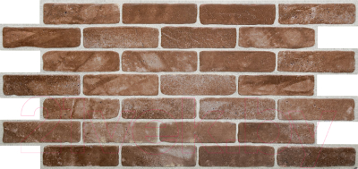 Панель ПВХ листовая, 5 шт. Grace Кирпич старый коричневый