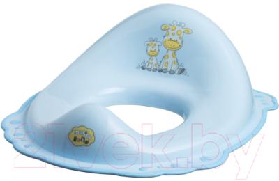 Детская накладка на унитаз Maltex Жираф / 1506 (голубой)