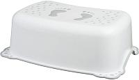 Табурет-подставка Maltex Классик / 7309 (белый/серый) -