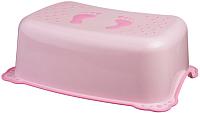Табурет-подставка Maltex Классик / 7309 (светло-розовый) -
