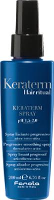Спрей для укладки волос Fanola Keraterm Hair Ritual термоактивный разглаж. д/поврежденных волос