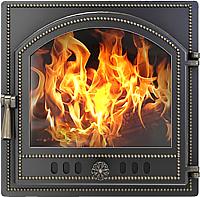 Дверца печная Везувий 205 (бронза) -