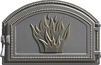 Дверца печная Везувий 223 (бронза) -