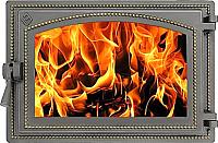 Дверца печная Везувий 230 (бронза) -