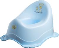 Детский горшок Maltex Жираф с противоскользящими резинками / 7569 (голубой) -