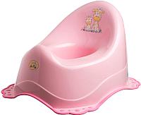 Детский горшок Maltex Жираф с противоскользящими резинками / 7569 (розовый) -