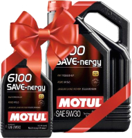 Моторное масло Motul 6100 Save-nergy 5W30 / 1093785 (4л+1л) -