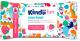 Влажные салфетки детские Kindii Fun Clean Hands с антибактериальной жидкостью, малина (60шт) -