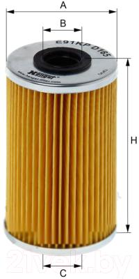 Топливный фильтр Hengst E91KP D165