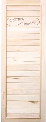Деревянная дверь для бани Doorwood Вагонка Эконом 185x75