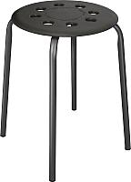 Табурет Ника С пластмассовым сиденьем / ТП01 (черный) -