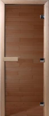 Стеклянная дверь для бани/сауны Doorwood Теплый день 200x80